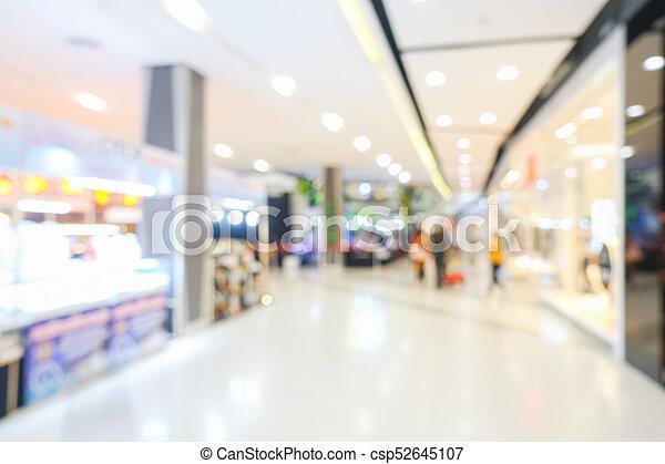 Blurred shopping mall - csp52645107