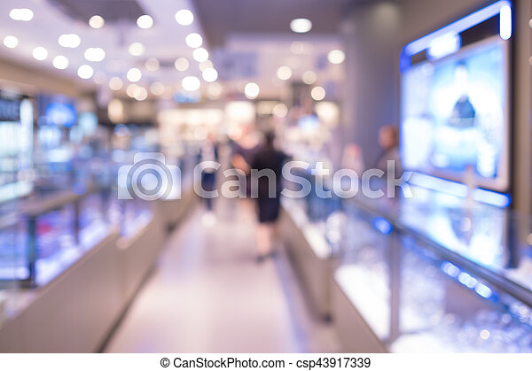 Blurred shopping mall - csp43917339