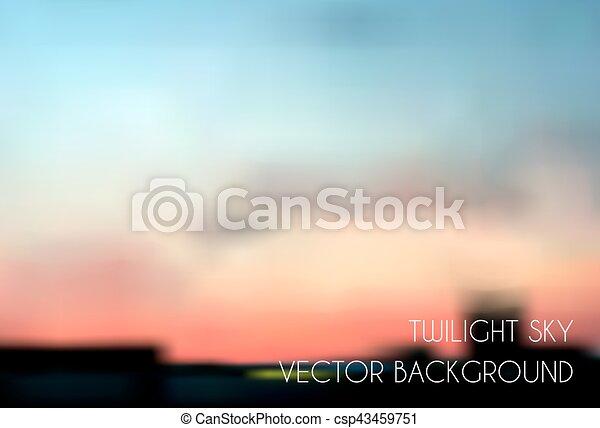Blurred twilight sky. Cityscape vector - csp43459751