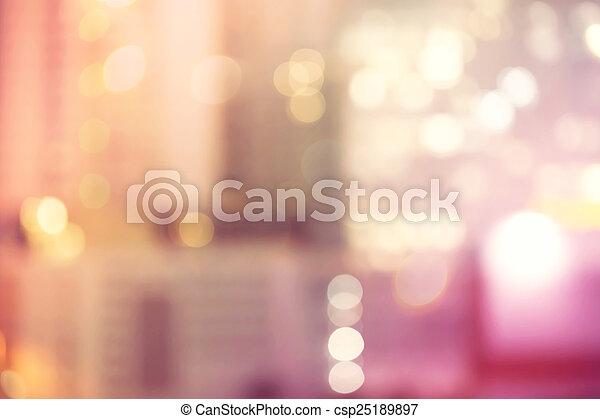 Blurred urban building background scene - csp25189897