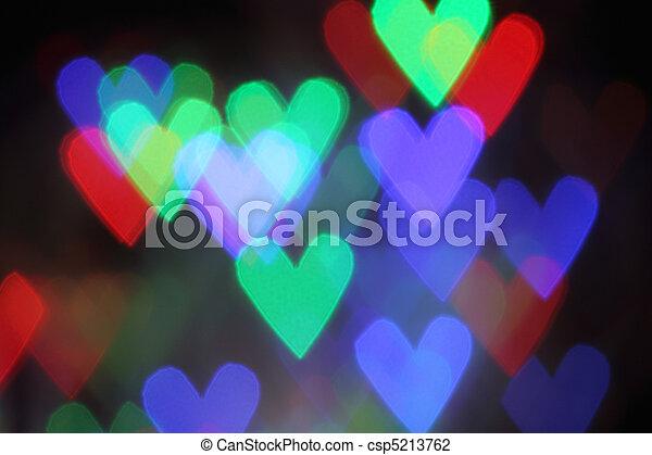 Blurred valentine background with heart - csp5213762