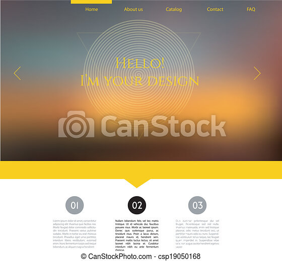 Blurred web design template - csp19050168