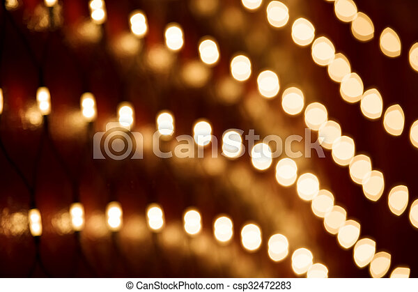 blurry christmas lights abstract background csp32472283 - Blurry Christmas Lights