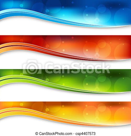 Blurry Light Banners - csp4407573