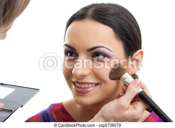 blusher, maquillaje, ser aplicable - csp5736079