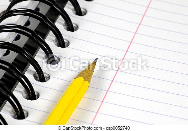 blyertspenna, anteckningsbok - csp0052740