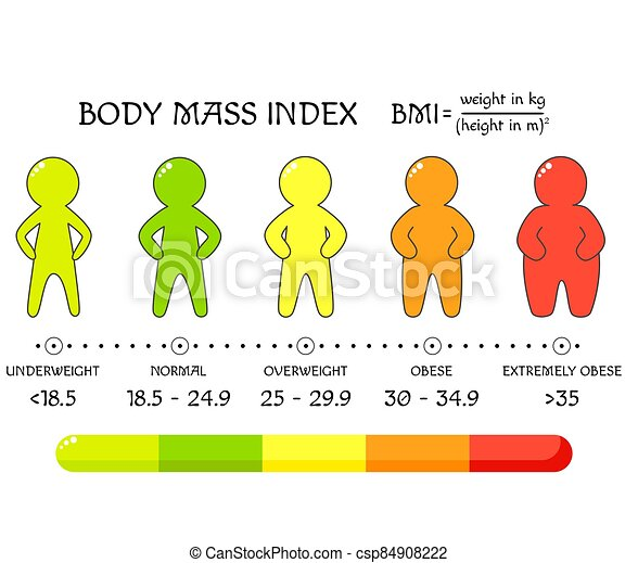 Bmi Concept Body Shapes From Underweight To Extremely Obese Weight Loss Silhouettes With Different Obesity Degrees Human