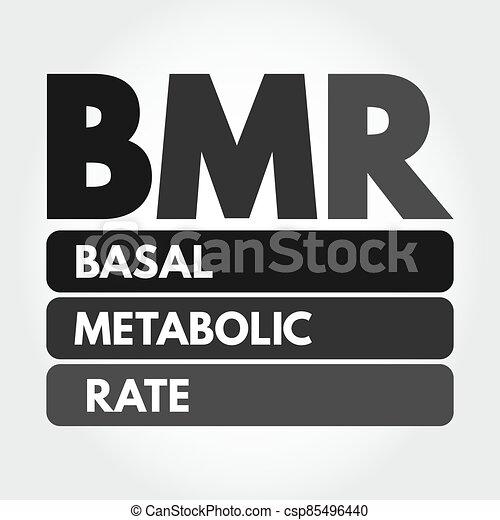 bmr, siglas, metabolic, tasa, -, basal - csp85496440