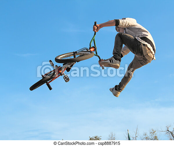 bmx, adolescent, cyclisme - csp8887915