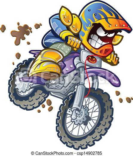 BMX Dirt Bike Rider - csp14902785