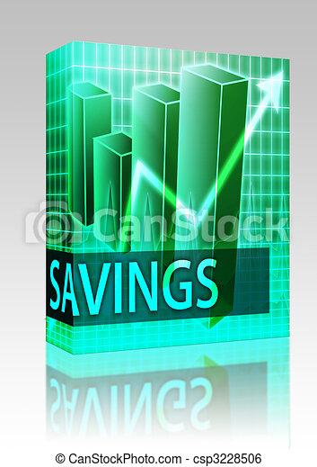 boîte, économies, finances, paquet - csp3228506