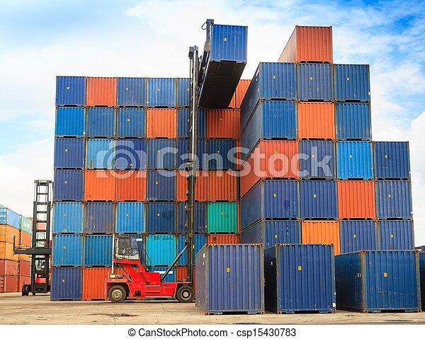 boîte, élévateur, récipient, maniement - csp15430783