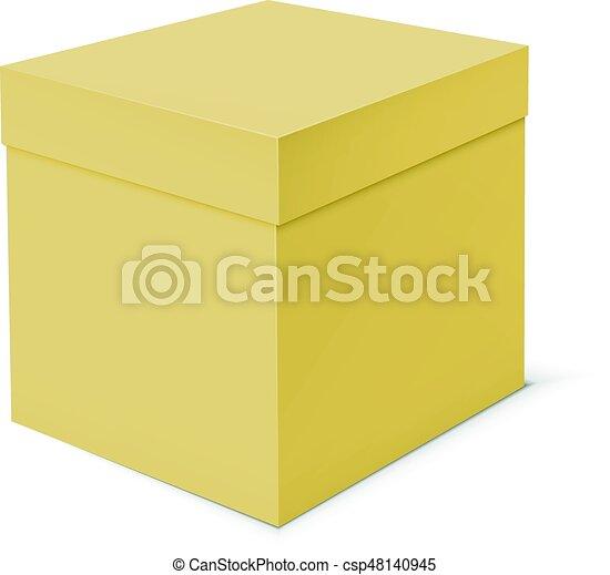 boîte, arrière-plan., gabarit, vide, blanc, carton - csp48140945