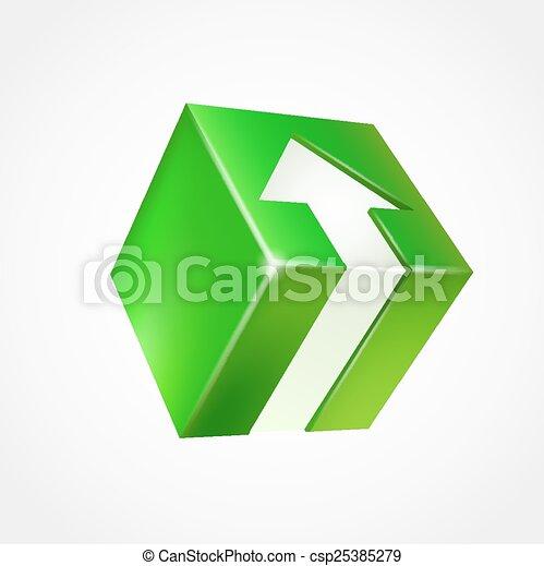 boîte, arrow., tridimensionnel - csp25385279