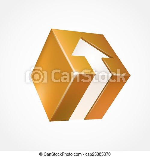 boîte, arrow., tridimensionnel - csp25385370