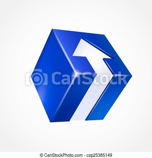 boîte, arrow., tridimensionnel - csp25385149