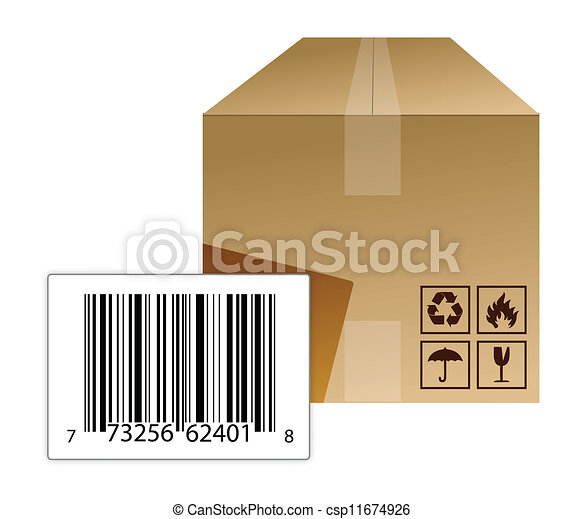 boîte, barcode - csp11674926