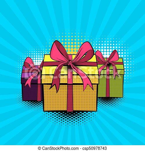 Boîte Beau Art Cadeau Pop Collection Ruban