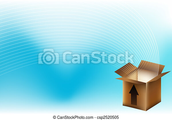 boîte, brun - csp2520505