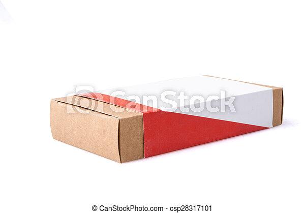 boîte, brun, isolé, fond, paquet - csp28317101