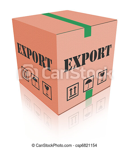 boîte, carboard, exportation, expédition, paquet - csp6821154