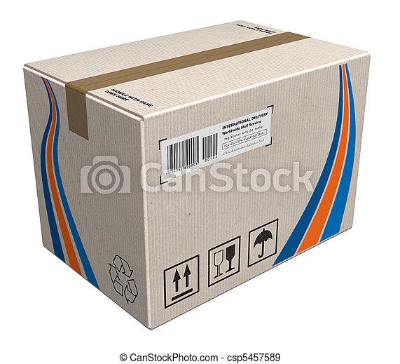boîte, carton - csp5457589