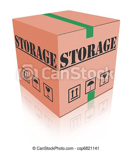 boîte, carton, stockage - csp6821141
