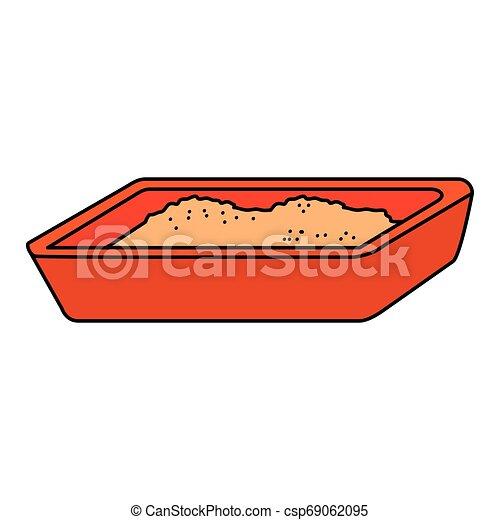 boîte, chat sable, icône - csp69062095