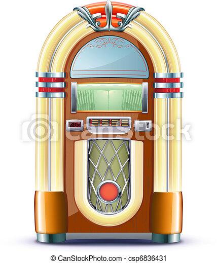 boîte, classique, juke - csp6836431