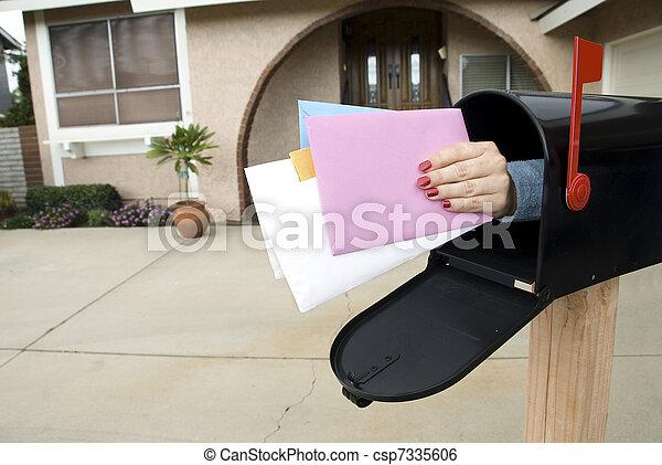 boîte, courrier - csp7335606