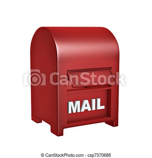 boîte, courrier, rouges - csp7370688
