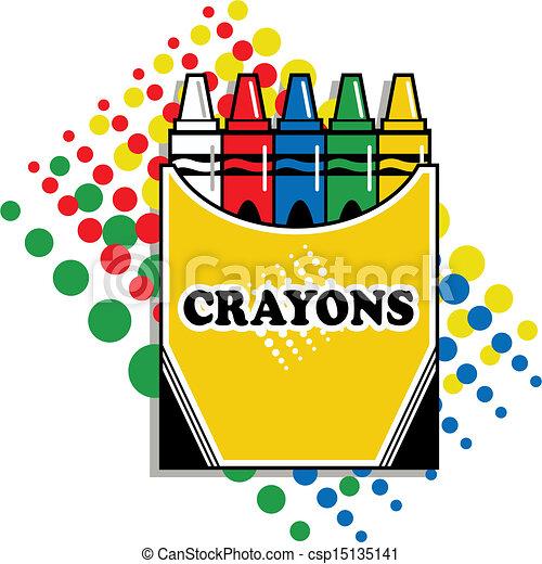 boîte, crayons - csp15135141