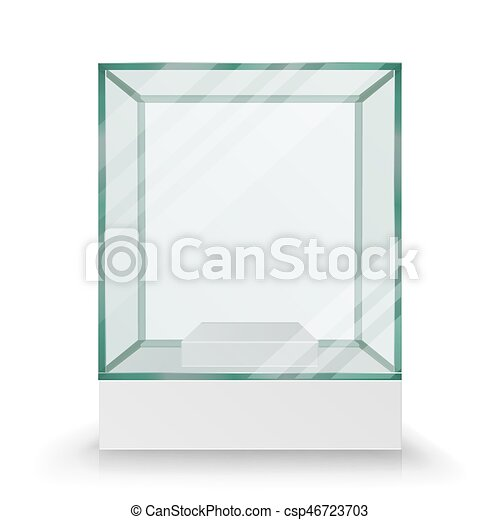 bo te cube formulaire verre vide presentation exposition vector transparent cube. Black Bedroom Furniture Sets. Home Design Ideas