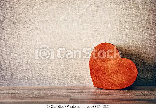 boîte, forme coeur, cadeau - csp33214232