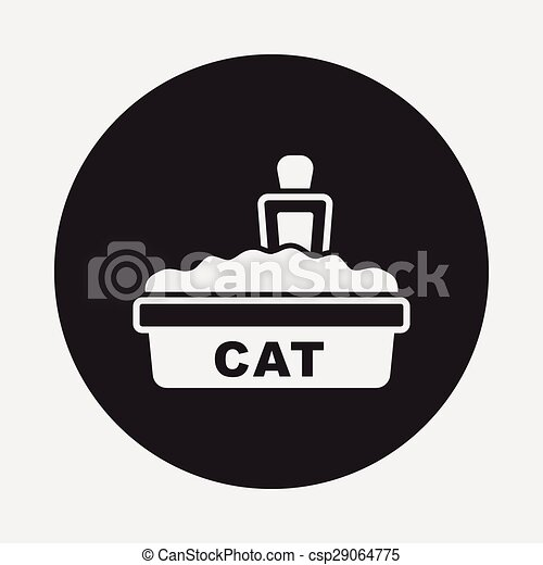 boîte, literie, chat, icône - csp29064775