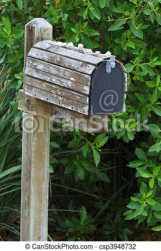 boîte, mail/email, vieux - csp3948732