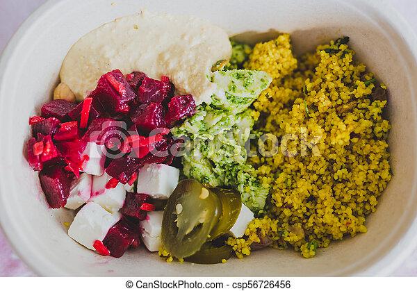 boîte, nourriture, loin, déjeuner, prendre, sain - csp56726456