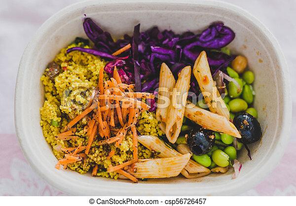 boîte, nourriture, loin, déjeuner, prendre, sain - csp56726457