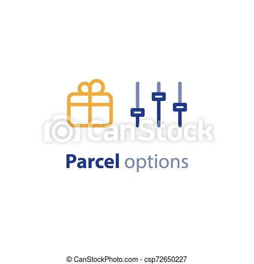boîte, parameters, paquet, poids, options, expédition, services, expédition, taille - csp72650227