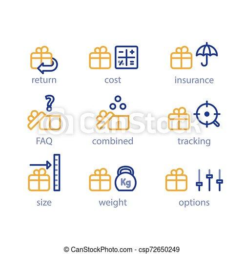 boîte, parameters, paquet, poids, options, expédition, services, expédition, taille - csp72650249