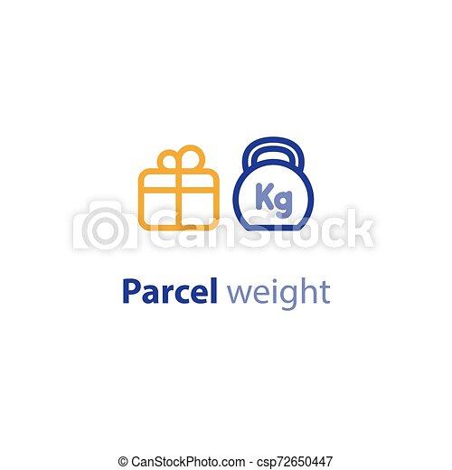 boîte, parameters, paquet, poids, options, expédition, services, expédition, taille - csp72650447