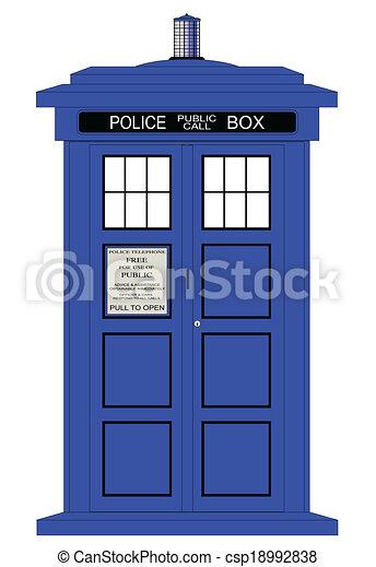 boîte, police, britannique - csp18992838