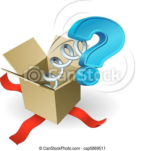 boîte, question, conce, cric, marque - csp5869511