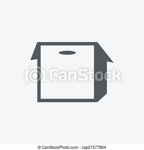 boîte, rainure, icône - csp21577804