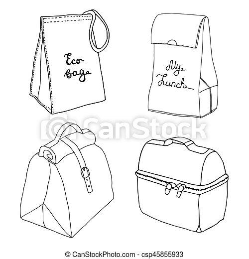 Boîte Sacs Déjeuner Nourriture Collection Boxes Sac Divers Facile Concepts