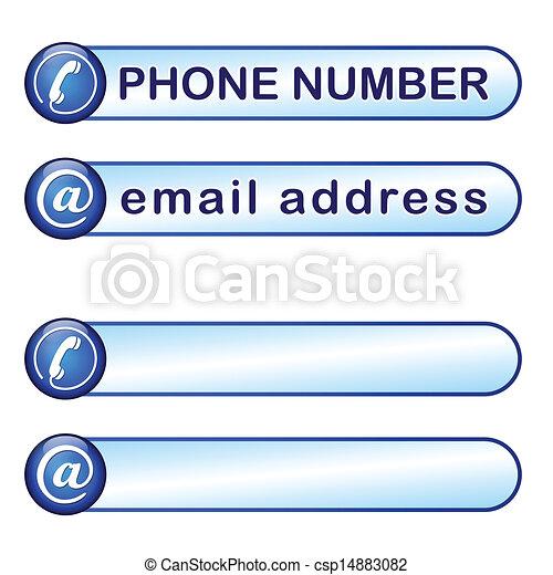 boîte, téléphone, adresse courrier - csp14883082