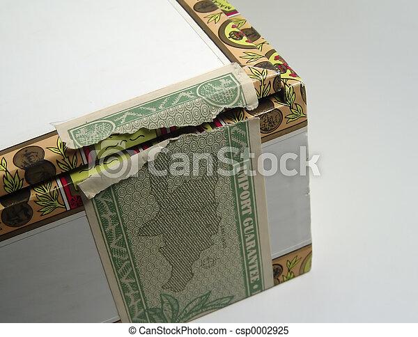 boîte, timbre, cigare - csp0002925