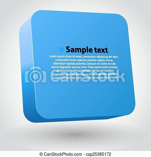 boîte, tridimensionnel - csp25385172