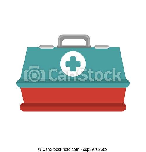 boîte, urgence, kit - csp39702689