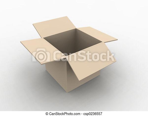 boîte, vide - csp0236557